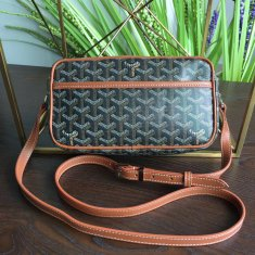 Goyard Sac Capvert Crossbody Bag Black With Brown