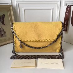 Stella McCartney Falabella Shaggy Deer Mini Bag Yellow