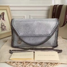 Stella McCartney Falabella Shaggy Deer Mini Bag Silver