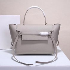 Celine Belt Bag Light Grey Epsom Leather Tote Handbag