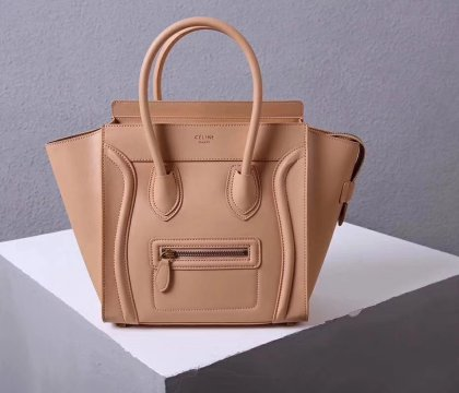 Celine Large Luggage Tote Bag 30cm Apricot