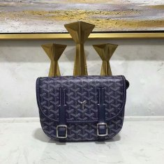 Goyard Belvedere Dark Blue Messenger Bag