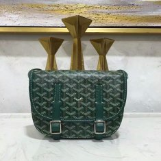 Goyard Belvedere Green Messenger Bag