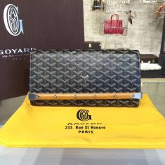 Goyard Monte Carlo Bois Clutch Black With brown