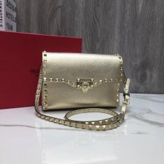 Valentino Free Rockstud Small Crossbody Bag Gold