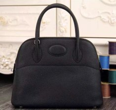 Hermes Bolide 31cm Togo Leather Black Bag