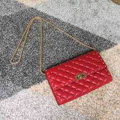 Valentino Free Rockstud Spike Chain Bag Red
