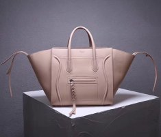 Celine Boston Leather Tote Handbag Nude