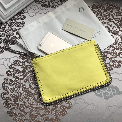 Stella McCartney Small Pouch Clutch Yellow