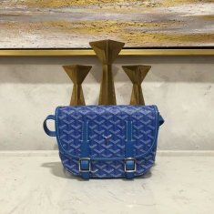 Goyard Belvedere Royal Blue Messenger Bag