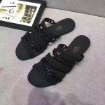 Hermes Jelly Flat Slippers Black Size 35-41