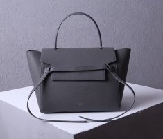 Celine Belt Bag Dark Grey Epsom Leather Tote Handbag