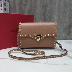 Valentino Free Rockstud Small Crossbody Bag Nude Gold