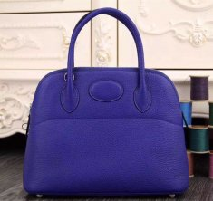 Hermes Bolide 31cm Togo Leather Electric Blue Bag