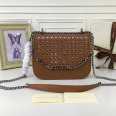 Stella McCartney Fallabella Box Studded Brown Silver