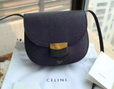Celine Trotteur Bag Epsom Leather Black
