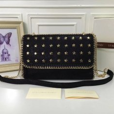Stella McCartney Falabella Shaggy Deer Star Studded Black Gold