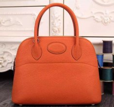 Hermes Bolide 31cm Togo Leather Orange Bag