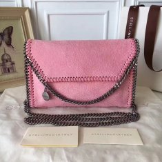 Stella McCartney Falabella Shaggy Deer Mini Bag Pink