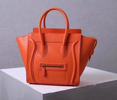 Celine Medium Luggage Tote Bag 26cm Orange