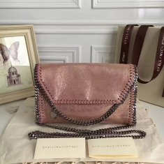 Stella McCartney Falabella Shaggy Deer Mini Bag Metallic Pink