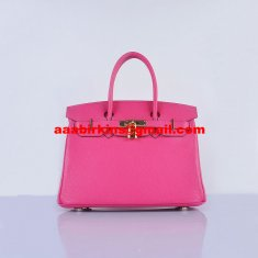Hermes Birkin 30cm Togo Leather Handbags Rose Golden
