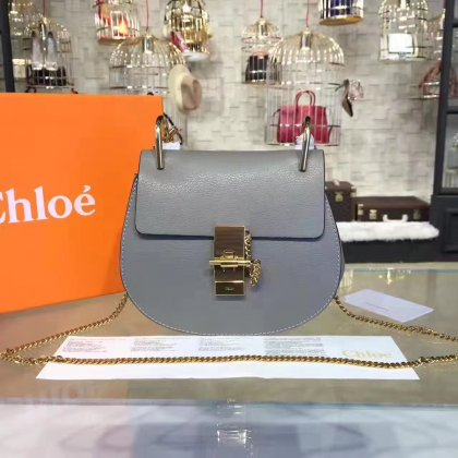 Chloe Drew Crossbody Bag Small 19cm Grey