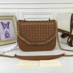 Stella McCartney Fallabella Box Studded Brown Gold