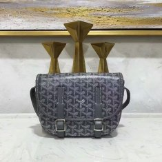 Goyard Belvedere Dark Grey Messenger Bag