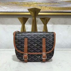 Goyard Belvedere Black With Brown Messenger Bag