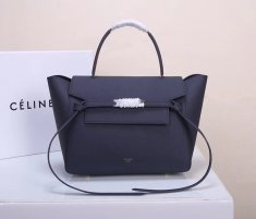 Celine Belt Bag Dark Blue Epsom Leather Tote Handbag