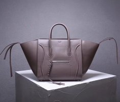 Celine Boston Leather Tote Handbag Grey