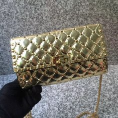 Valentino Free Rockstud Spike Chain Bag Gold