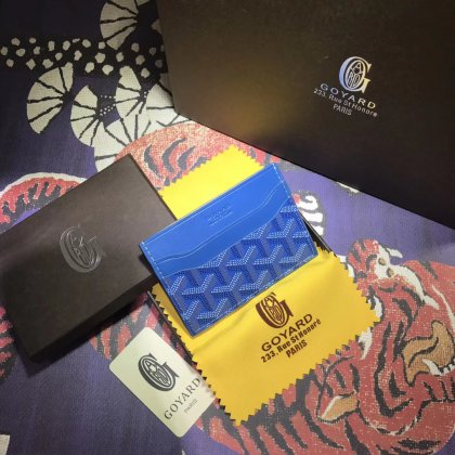 Goyard Card Holder Blue