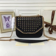 Stella McCartney Fallabella Box Studded Black Gold