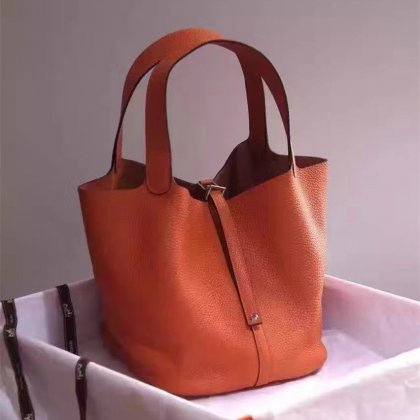 Hermes Picotin Lock Togo Leather Orange
