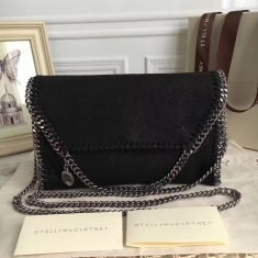 Stella McCartney Falabella Shaggy Deer Mini Bag Black