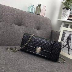 Dior Diorama Clutch Chain Bag 24cm Black
