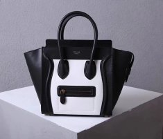 Celine Large Luggage Tote Bag 30cm Black White