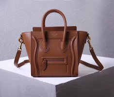 Celine Small Luggage Tote 20cm Brown Leather Bag