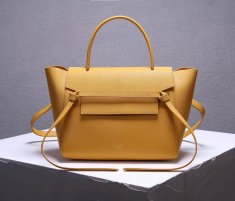 Celine Belt Bag Yellow Epsom Leather Tote Handbag