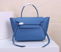 Celine Belt Bag Blue Epsom Leather Tote Handbag
