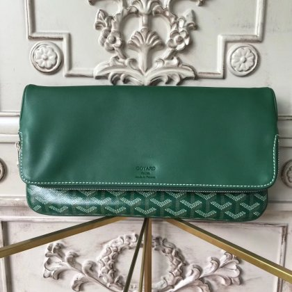 Goyard Saint Marie Clutch Green