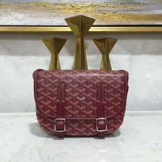 Goyard Belvedere Burgundy Messenger Bag