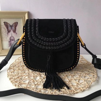 Chloe Hudson Black Suede Crossbody Bag