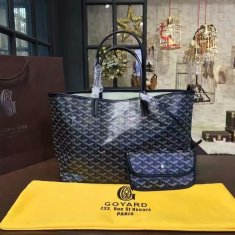 Goyard Classic Chevron St. Louis PM Black Tote Bag