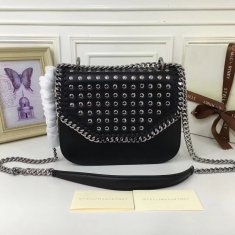 Stella McCartney Fallabella Box Studded Black Silver