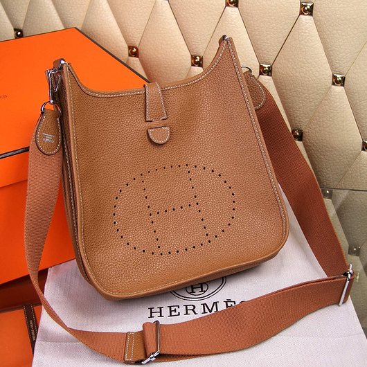 209a60d9e17a Hermes Evelyne III Togo Leather Crossbody Bag Brown  Hermes-1060 ...