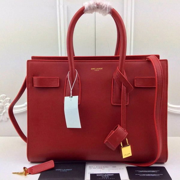 Ysl Red Downtown Tote Cow Leather Bags Ysl2017 1437